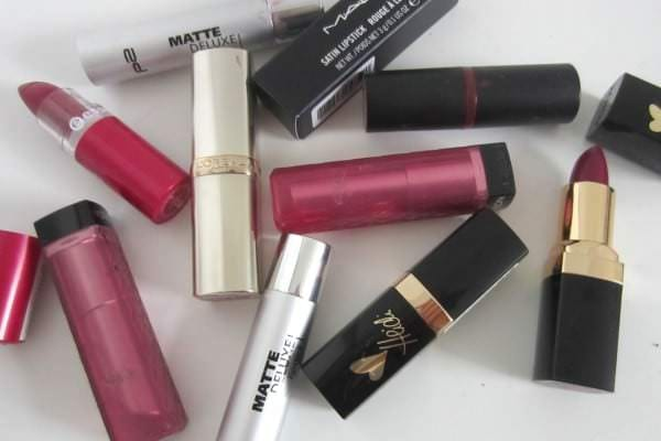 Lila Lippenstifte