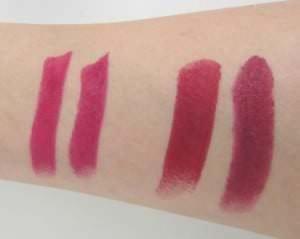 Lila Lippenstift Vergleich