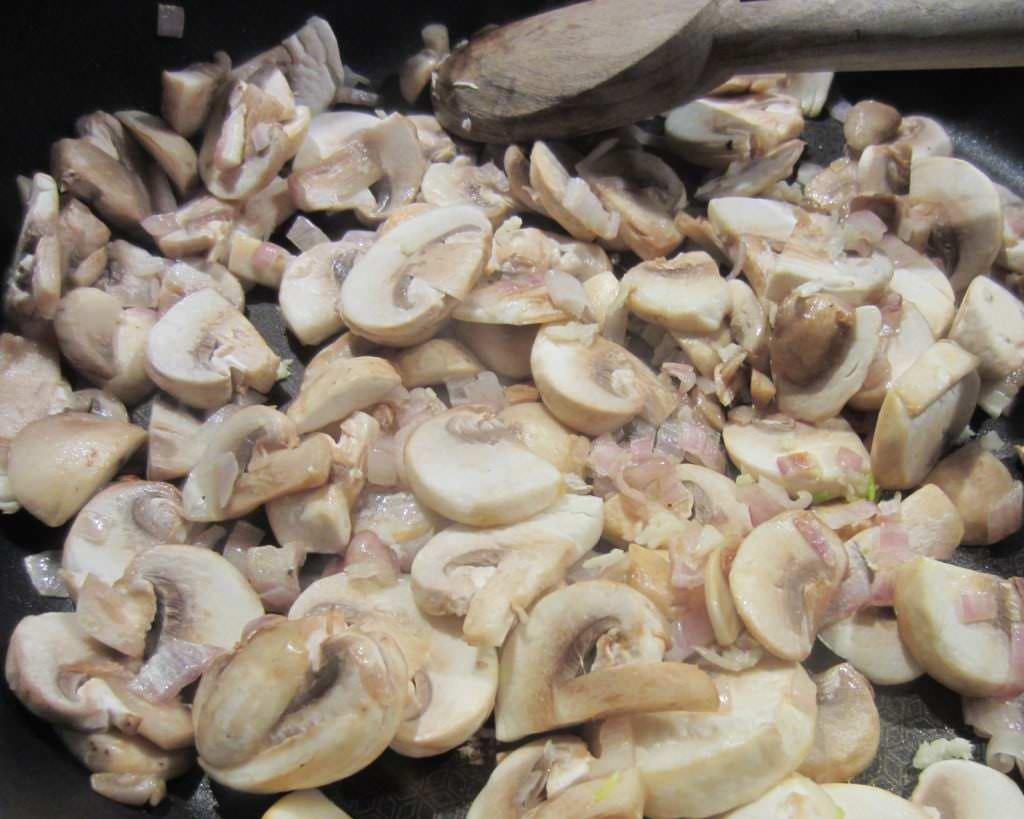 angebratene Pilze