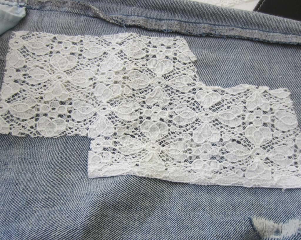 DIY Jeans Löcher stopfen 2