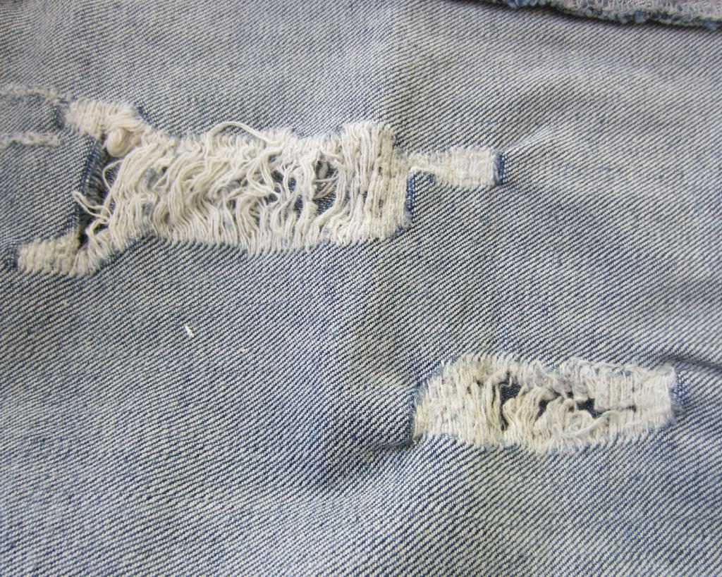 DIY Jeans Löcher stopfen 3