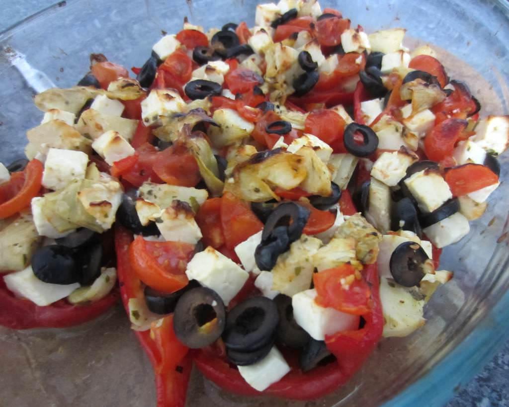 Paprika Schiffchen aus dem Ofen