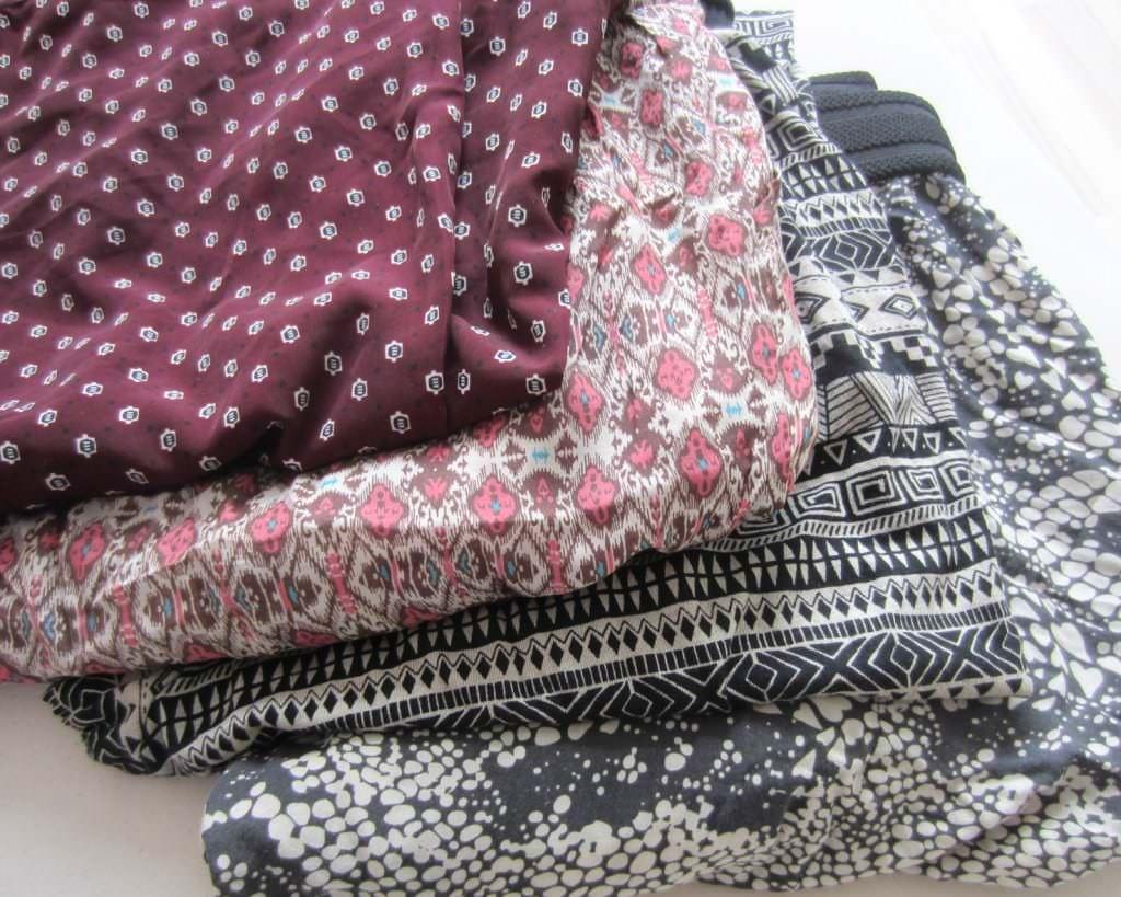 Hosen die ich letztes Jahr gekauft habe:  H&M, 2 mal Pull and Bear und Vero Moda