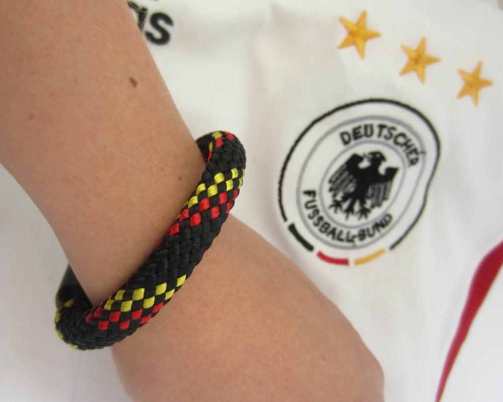 Deutschland Armband - edeler Fanstyle