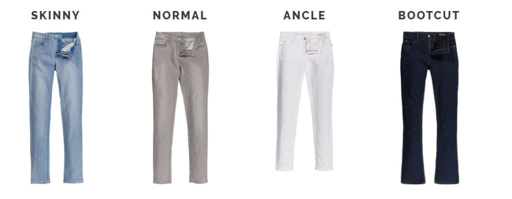 Jeans-Varianten