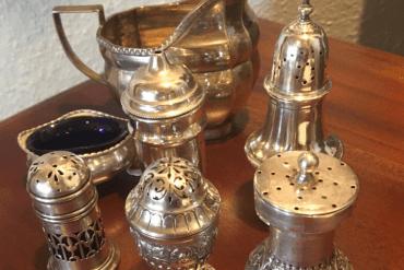 Silberpunzen auf Gegenständen